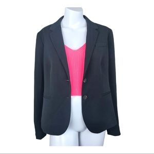 J. Crew Black 2-Button Plus Stretch Career Blazer